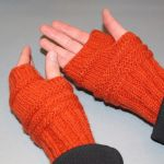 Mitenki rękawiczki bez palców -