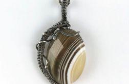 Srebrny wisiorek z agatem Srebro Agat Średni