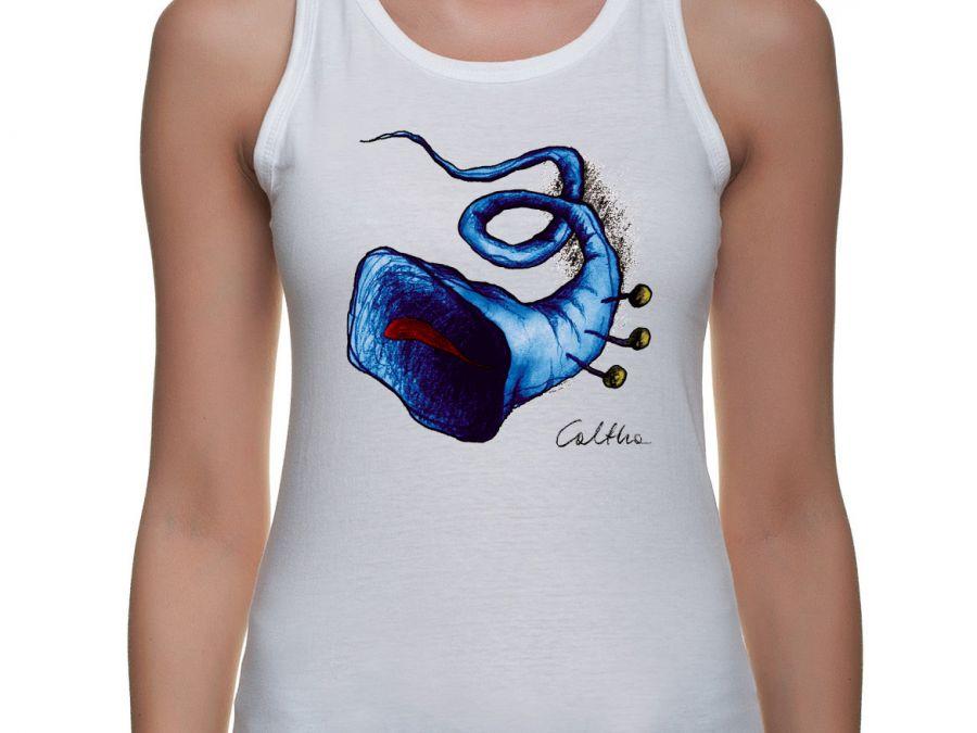 Niebieska trąbka - damski top (2 kolory)