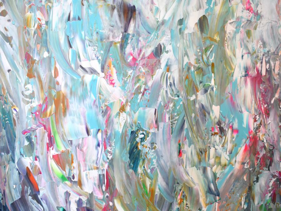 Abstrakcyjny obraz ręcznie malowany 100x100 -