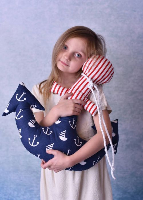 Poduszka dziecięca kotwica