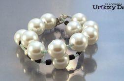 Podwójna bransoletka z perłami