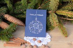 Kartka świąteczna - ze śnieżynkami