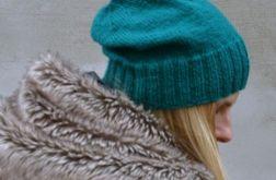Knitting Colorful Hats-  Czapka Szmaragdowa