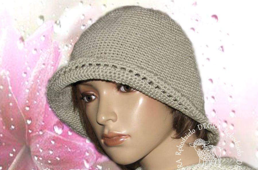 Bawełniany kapelusz-beż