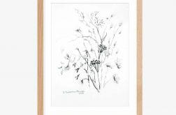 Grafika czarno biała A4, minimalizm