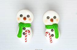 Kolczyki Świąteczn Bałwanki