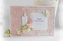 Pamiątka chrztu w pudełku róż #2