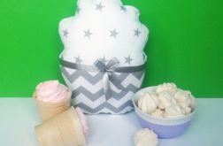 Poduszka muffinka, babeczka śnieżynka S