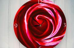 Zegar Ścienny Kwiaty Róża Prezent