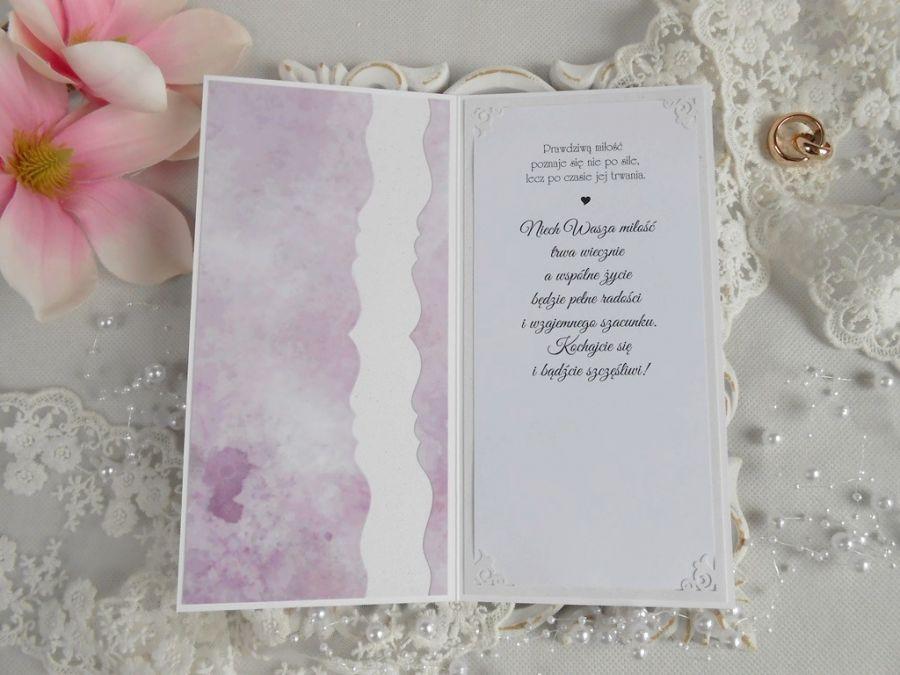Ślubna kartka DL w pudełku 78