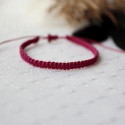 Różowa bransoletka pleciona na rękę