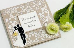Kartka podziękowanie za weselny kołacz