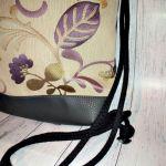Plecak damski młodzieżowy fioletowe złote