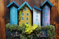 Wieszak na klucze - domki z chrobotkiem