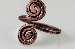 Zawijas - miedziany pierścionek 171219-02