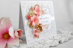 Ślubna kartka w pudełku z okienkiem 25