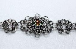 Bransoleta chainmaille z kryształem Swarovskiego