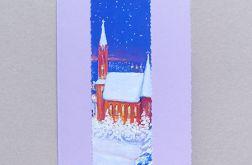 Kartka świąteczna - zimowy pejzażyk nr 30