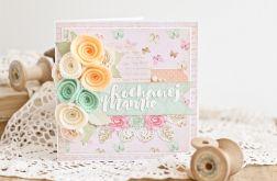 Dzień Matki - kartka okolicznościowa róż