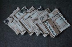Podkładki pod kubki - winne etykiety 6szt