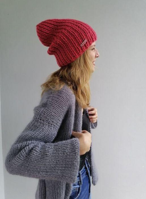 wełniana czapka z alpaką