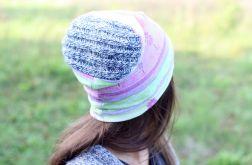 czapka dzianinowa damska we wzory