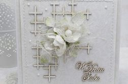 Delikatna ślubna biel - komplet z pudełkiem
