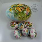 Wydmuszki kurze 6szt w pudełku - jajka ażurowe