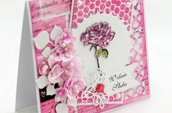 Kartka ślubna z różą - KS136
