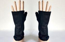 Rękawiczki mitenki czarne z siatką
