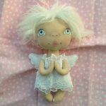 ANIOŁEK lalka - dekoracja tekstylna, OOAK/22 - jestem cała w bieli