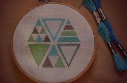 Ręcznie haftowany obrazek INDIAŃSKIE LATO haft krzyżykowy
