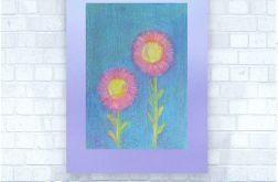 Rysunek z kwiatami na fioletowym tle nr 10