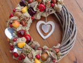 Wianek jesienny z sercem