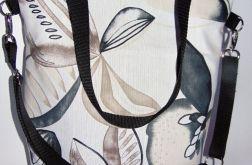 Torebka damska torba miejska liście kwiaty