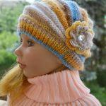 Kolorowa czapeczka żółty i niebieski ;o)