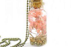 0901-mela/ wisiorek buteleczka z kwiatami