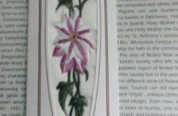 Zakładka do książki - haftowane lilie