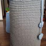 Duży kosz ze sznurka bawełnianego -
