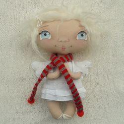 ANIOŁEK lalka dekoracja tekstylna  OOAK/18