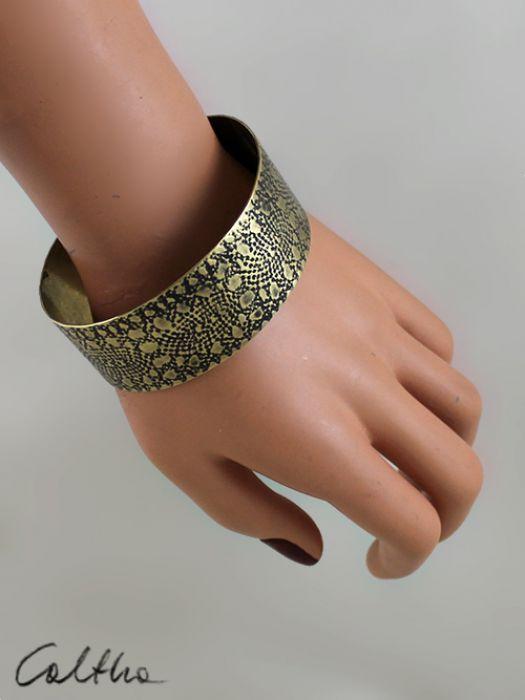 Mosiężna bransoleta - koronka 141113-03