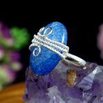 Agat dragon, srebrny pierścionek z agatem - srebrny regulowany pierścionek z agatem dragon vein
