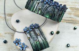 Niezapominajki - wyjątkowy, komplet biżuterii