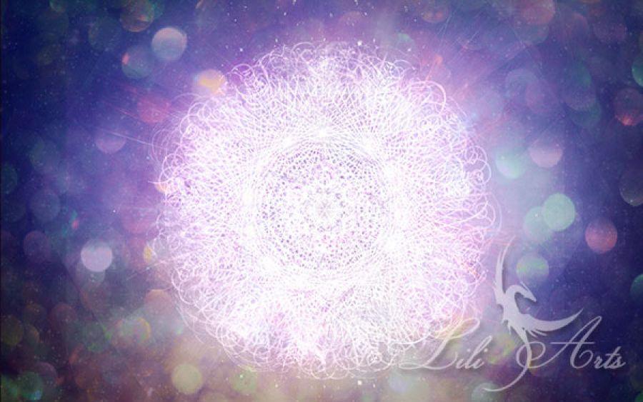 Obraz energetyczny - Bóg w nas - płótno