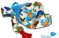 Etui na smoczek + tasiemka do smoczka Małpki by Birdie