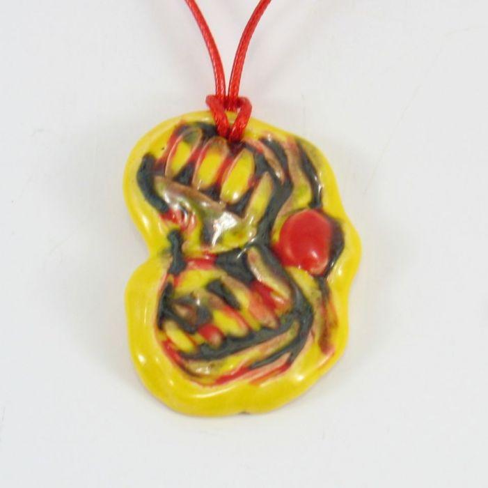 Wisior ceramiczny żółtoczerwony
