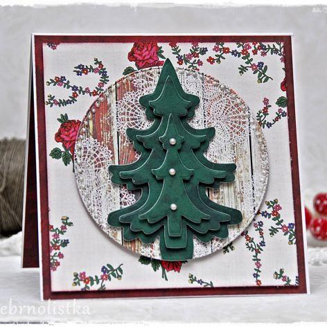 Kartka Świąteczna w stylu góralskim vol.4