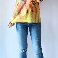Sweter z kapturem oversize boho