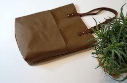 Torebka damska shopper bag WASHPAPA czekolada